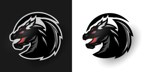 Round dragon logo. Two options.