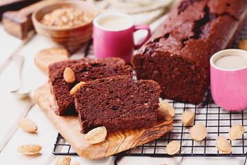 chocolate cake with almonds - sweet food