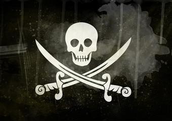 grunge pirate flag