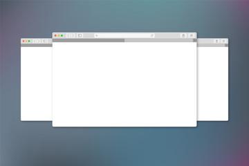 Mehrere Browser Fenster auf Hintergrund