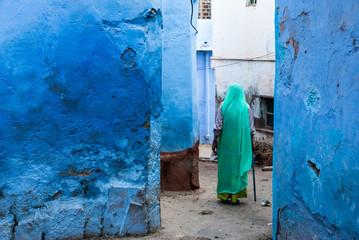 Blue City of Jodhpur, Rajasthan, India. Urban scene. Jodhpur is a popular tourist town.