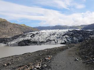 Gletscherzunge des Sölheimajökull in Island