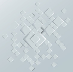 Vector Abstract geometric shape from gray deep rhombus.