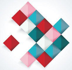 Vector Abstract geometric shape from color rhombus.