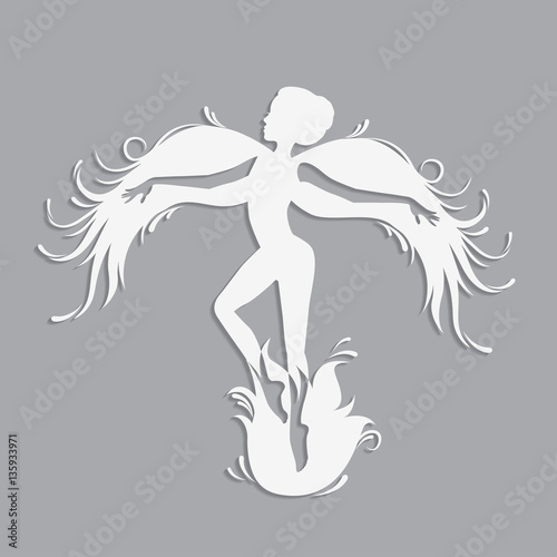 fairy cut out template - template fairy for cut of laser or engraved stencil for