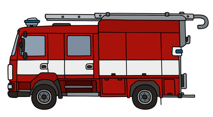 Hand drawing of a fire truck