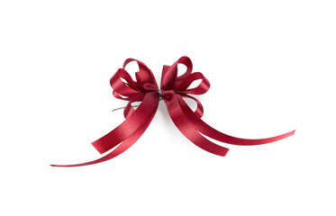 Shiny red ribbon isolated