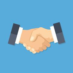 Handshake icon. Shake hands, agreement, good deal, partnership concepts. Premium quality. Modern flat design graphic elements. Vector illustration