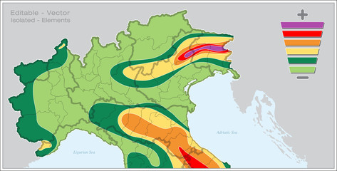 FAGLIA SISMICA ITALIA NORD