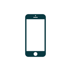 Phone icon. Cellphone pictogram in trendy flat style isolated on
