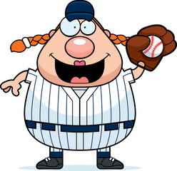 Softball Player Catching