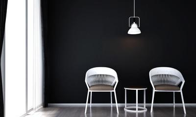 The interior design of minimal living room