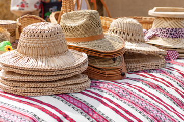 wicker hats at the fair masters in Ukraine