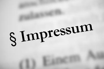 Impressum - schwarzer Text