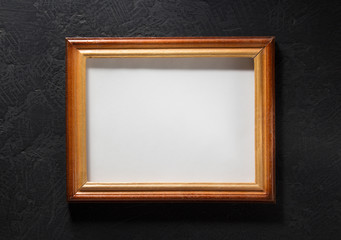 photo picture frame at black background