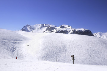 A view of winter Alps, 3 Vallees, France