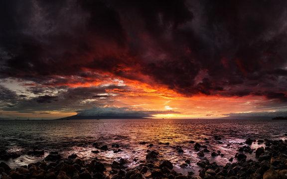 Maui, Hawaii Sunset