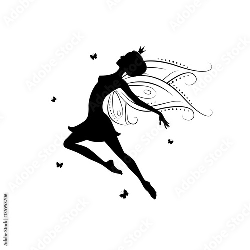 Fairy Template | Silhouette Of A Fairy Template Fairy For Cut Of Laser Or Engraved