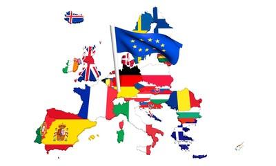 Construction Européenne Europe Drapeaux
