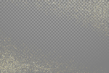 Glow gold particles vector star dust shimmer