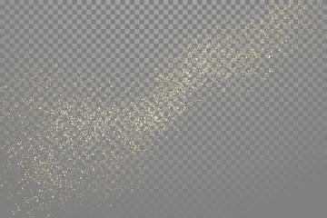 Golden glitter abstract gold star dust vector