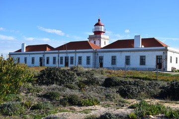 Lighthouse at Cabo Sardao in Alentejo, Portugal