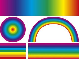 Regenbogen, Farbverlauf, vektor