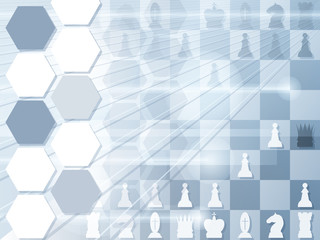 Abstract background with chessboard. Checkmate. Vector