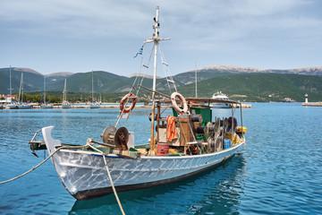 Old fishing boat in port of Sami, Kefalonia, Ionian Islands, Greece