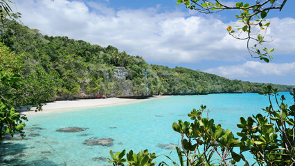 Beautiful beach on Lifou Island, New Caledonia