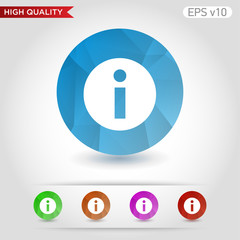 Info icon. Button with info icon. Modern UI vector.