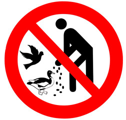 Vögel füttern verboten