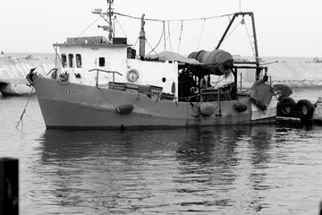 Fishing boat on the high seas