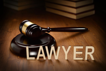 Lawyer wooden letters