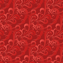 Vector illustration of seamless square red color pattern