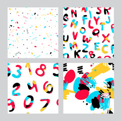 letters numbers pattern