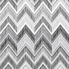 Abstract geometric pattern. Fabric doodle line ornament. Linear zig zag texture. Seamless ornamental zigzag background
