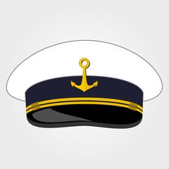 Captain Cap. Flat style design