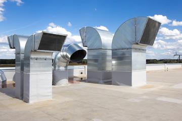 Fototapeta Industrial steel air conditioning obraz