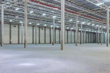 Interior of a modern warehouse