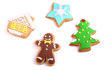 Cookies with Christmas topping