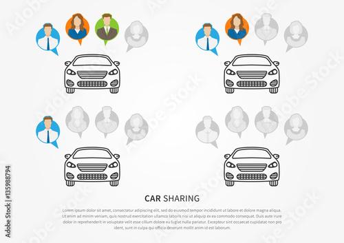 Car sharing vector illustration car to share graphic design car sharing vector illustration car to share graphic design transport renting service creative concept publicscrutiny Gallery