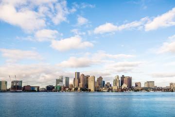 Boston downtown skyline city view