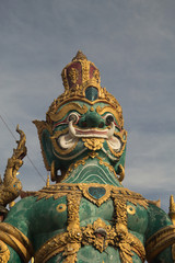 Giant Statue was located in many temples of Thailand