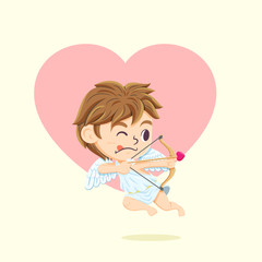 Cute Cupid Character for valentine's day