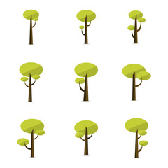 Set of tree vector flat