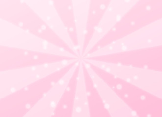 幻想的な集中線と丸いキラキラエフェクト 背景デザイン素材 ピンク系 横長