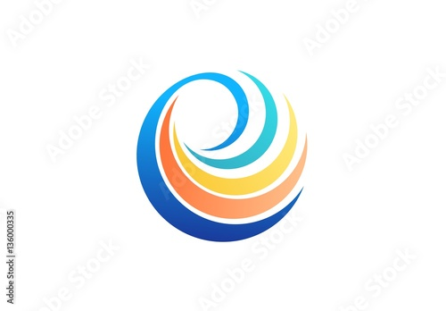 sphere spiral elements logo abstract global twist symbol beauty