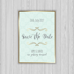 Decorative save the date invitation