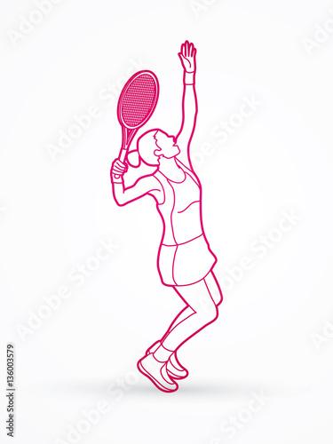 Tennis player graphics